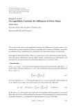 """Báo cáo hóa học: """"Research Article On Logarithmic Convexity for Differences of Power Means"""""""
