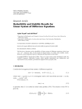 "Báo cáo hóa học: "" Research Article Reducibility and Stability Results for Linear System of Difference Equations"""