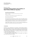"Báo cáo hóa học: ""Research Article Asymptotic Representation of the Solutions of Linear Volterra Difference Equations"""