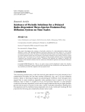 "Báo cáo hóa học: ""Research Article Existence of Periodic Solutions for a Delayed Ratio-Dependent Three-Species Predator-Prey Diffusion System on Time Scales"""