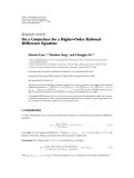"""Báo cáo hóa học: """"Research Article On a Conjecture for a Higher-Order Rational Difference Equation"""""""