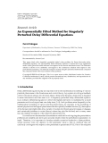 """Báo cáo hóa học: """" Research Article An Exponentially Fitted Method for Singularly Perturbed Delay Differential Equations Fevzi Erdogan"""""""