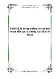 Thiết kế hệ thống chống sét cho một trạm biến áp và đường dây dẫn tới trạm