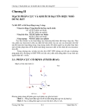 Chương 2: Mạch phân cực và khuếch đại tín hiệu nhỏ dùng BJT  Chương II MẠCH