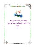 Báo cáo thực tập tốt nghiệp ô tô tại công ty cổ phần TM-DV Phú Mẫn