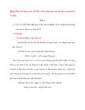 Đề 1: Phân tích đoạn trích Việt Bắc ( trích phần một của bài thơ) của nhà thơ Tố Hữu