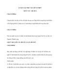 LUYỆN TẬP THI VÀO LỚP 10 THPT MÔN VĂN - ĐỀ SỐ 8