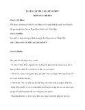 LUYỆN TẬP THI VÀO LỚP 10 THPT MÔN VĂN - ĐỀ SỐ 6