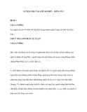 LUYỆN THI VÀO LỚP 10 THPT - MÔN VĂN_Đề Số 1