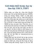 Giới thiệu thiết bị dạy học tự làm bậc THCS, THPT