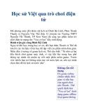 Học sử Việt qua trò chơi điện tử