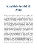 Khai thác lợi thế từ Atlat