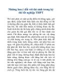 Những lưu ý đối với thí sinh trong kỳ thi tốt nghiệp THPT