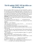 Thi tốt nghiệp THPT: Để đạt điểm cao bài thi tiếng Anh