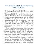 Tiêu chí chuẩn TDTT đối với các trường ĐH, CĐ, TCCN