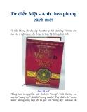 Từ điển Việt - Anh theo phong cách mới