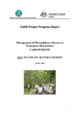 """Báo cáo nghiên cứu khoa học """" Management of Phytophthora diseases in Vietnamese Horticulture - MS3 """""""
