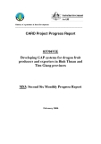 Báo cáo dự án nông nghiệp: Developing GAP systems for dragon fruit producers and exporters in Binh Thuan and Tien Giang provinces (MS3)