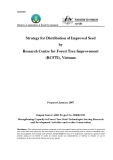 """Báo cáo nghiên cứu khoa học """" Strategy for Distribution of Improved Seed by Research Centre for Forest Tree Improvement (RCFTI), Vietnam """""""