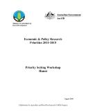 """Báo cáo nghiên cứu khoa học """" Economic & Policy Research Priorities 2011-2015 """""""