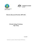 """Báo cáo nghiên cứu khoa học """" Fisheries Research Priorities 2007-2012 """""""