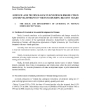 """Báo cáo nghiên cứu khoa học """" SCIENCE AND TECHNOLOGY IN LIVESTOCK PRODUCTION AND DEVELOPMENT IN VIETNAM DURING RECENT YEARS """""""