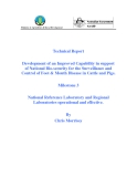 "Báo cáo nghiên cứu khoa học "" Development of an Improved Capability in support of National Bio-security for the Surveillance and Control of Foot & Mouth Disease in Cattle and Pigs - Milestone 3 """