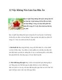 12 Việc Không Nên Làm Sau Bữa Ăn