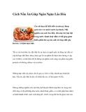 Cách Nấu Ăn Giúp Ngăn Ngừa Lão Hóa