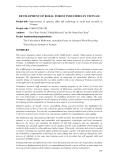 """Báo cáo nghiên cứu nông nghiệp """" Improvement of operator skills and technology in small rural sawmills in Vietnam """""""