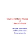 """Báo cáo nghiên cứu nông nghiệp """" Development and Management of Seed Orchards """""""