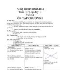 Giáo án hay nhất 2012 Tuần 07 Lớp dạy: 7 Tiết 14 ÔN TẬP CHƯƠNG I