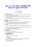 ngữ văn 7 soạn theo sách chuẩn kiến thức kỹ năng mới 2011-2012