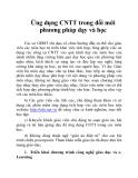 Ứng dụng CNTT trong đổi mới phương pháp dạy và học