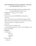 THỰC HÀNH THIẾT KẾ KẾ HOẠCH BÀI HỌC VÀ DẠY HỌC ĐỊA LÍ ĐỊA PHƯƠNG Ở THCS ( 5 tiết )
