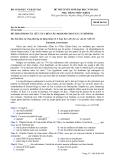 Đề thi thử tuyển sinh đại học Tiếng Pháp 2012-Đề 2