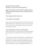 BÀI SOẠN ÔN THI TỐT NGHIỆP MÔN QUẢN LÝ NHÀ NƯỚC VỀ KINH TẾ (PHẦN 5) Câu 5:
