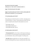 BÀI SOẠN ÔN THI TỐT NGHIỆP MÔN QUẢN LÝ NHÀ NƯỚC VỀ KINH TẾ (PHẦN 7)