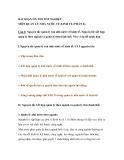 BÀI SOẠN ÔN THI TỐT NGHIỆP MÔN QUẢN LÝ NHÀ NƯỚC VỀ KINH TẾ (PHẦN 6)