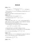 Đề thi thử toán khối B năm 2012