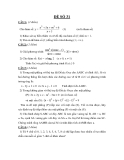 Đề thi thử toán khối A năm 2012