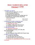 TRẮC NGHIỆM HÓA SINH Chương 4: LIPID