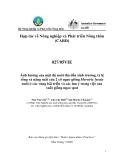"""Báo cáo nghiên cứu nông nghiệp """" Ảnh hưởng của mật độ nuôi thả đến sinh trưởng, tỷ lệ sống và năng suất của 2 cỡ ngao giống Meretrix lyrata nuôi ở các vùng bãi triều và các lưu ý trong việc sản xuất giống ngao spat """""""