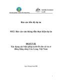 """Báo cáo nghiên cứu nông nghiệp """" Xây dựng các biện pháp nuôi tốt cho cá tra ở đồng bằng sông Cửu Long, Việt Nam """" MS2"""