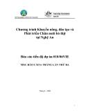 """Báo cáo nghiên cứu nông nghiệp """" Dự án khuyến nông và đào tạo phát triển chăn nuôi bò thịt quy mô xã bền vững tại Tỉnh Nghệ An - MS5 """""""