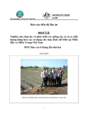 Báo cáo dự án (MS5): Nghiên cứu chọn lọc và phát triển các giống cây có củ có chất lượng hàng hoá cao sử dụng cho mục đích chế biến tại Miền Bắc và Miền Trung Việt Nam