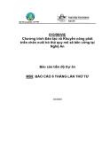 """Báo cáo nghiên cứu nông nghiệp """" Chương trình Đào tạo và Khuyến nông phát triển chăn nuôi bò thịt quy mô xã bền vững tại Nghệ An - MS8  """""""