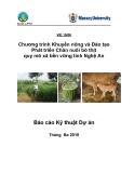 """Báo cáo kỹ thuật """" Chương trình Khuyến nông và Đào tạo Phát triển Chăn nuôi bò thịt quy mô xã bền vững tỉnh Nghệ An """""""