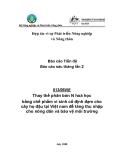 """Báo cáo nghiên cứu nông nghiệp """" Thay thế phân bón N hoá học bằng chế phẩm vi sinh cố định đạm cho cây họ đậu tại Việt nam để tăng thu nhập cho nông dân và bảo vệ môi trường """""""