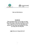 Báo cáo dự án khoa học nông nghiệp: Giảm dư lượng thuốc trừ sâu, nâng cao năng suất, chất lượng và tiêu thụ sản phẩm rau vùng Bắc Trung bộ của Việt Nam nhờ giống mới, nguyên tắc thực hành nông nghiệp tốt và đào tạo trọng tâm cho nông dân (MS9)